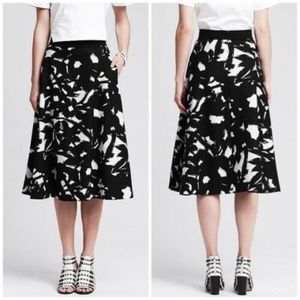 Banana Republic Women's Floral Fit and Flare Midi